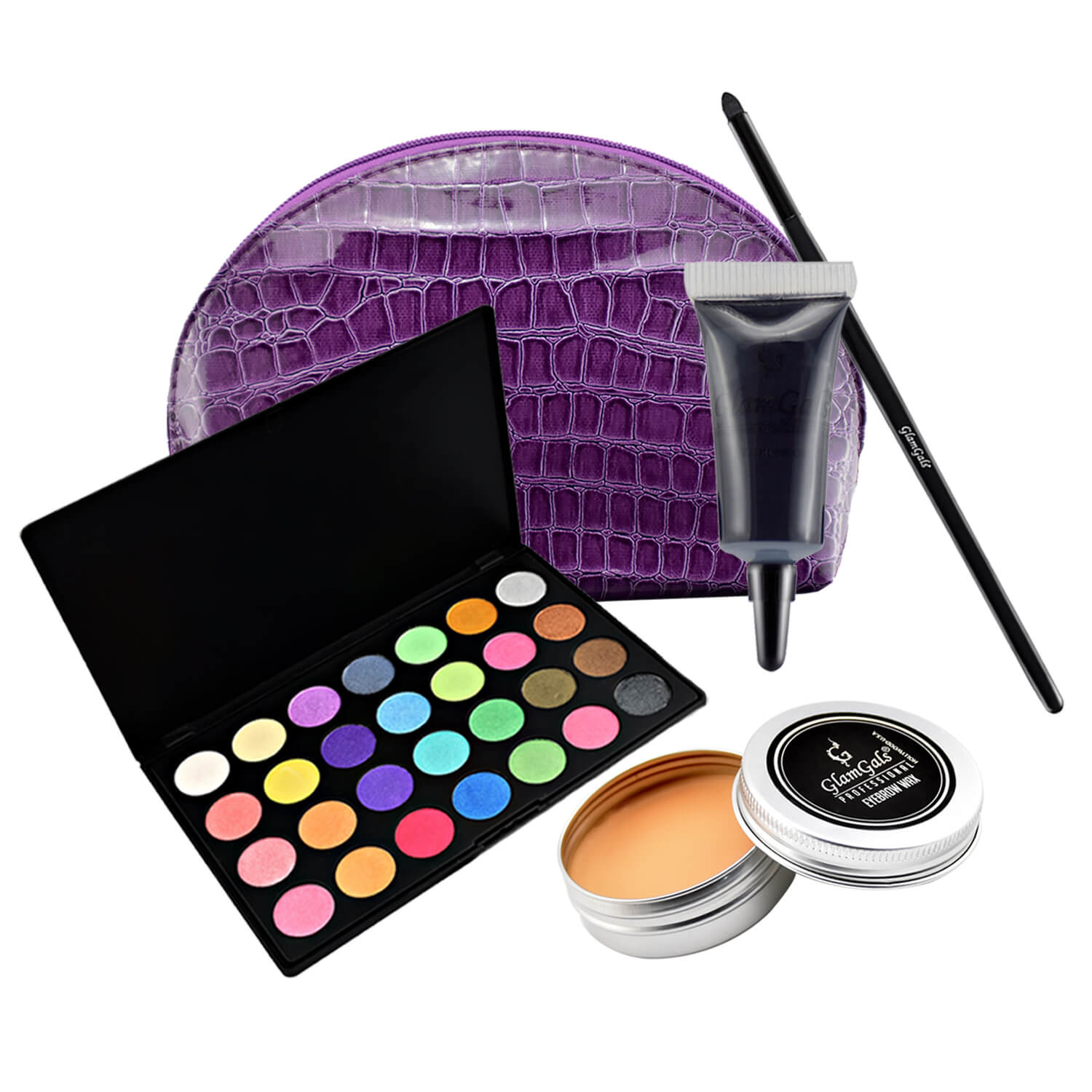 GlamGals Eye Makeup Essential Combo set (Pack of 4) with Free Pouch