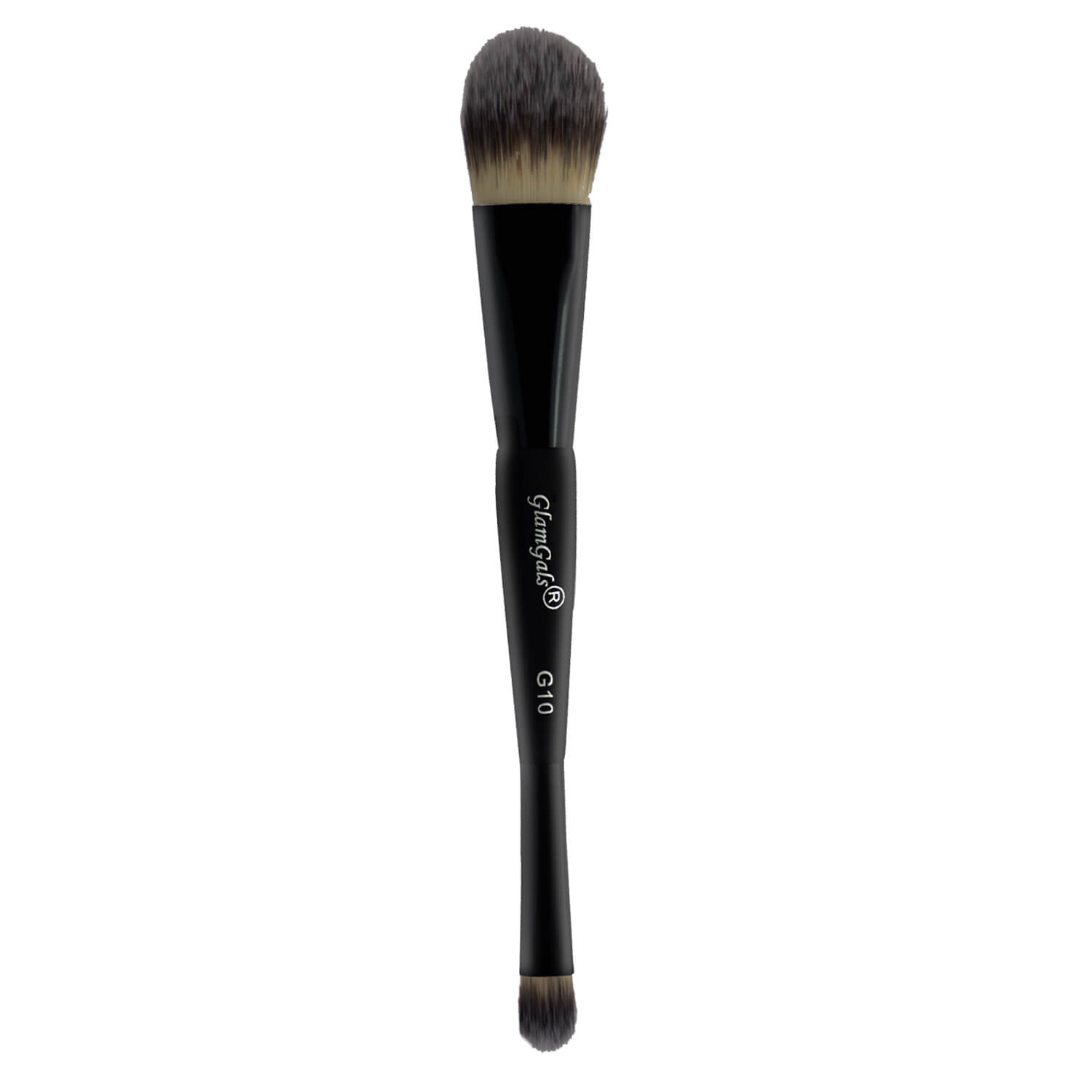 GlamGals Black Double Ended Foundation /Concealer Brush