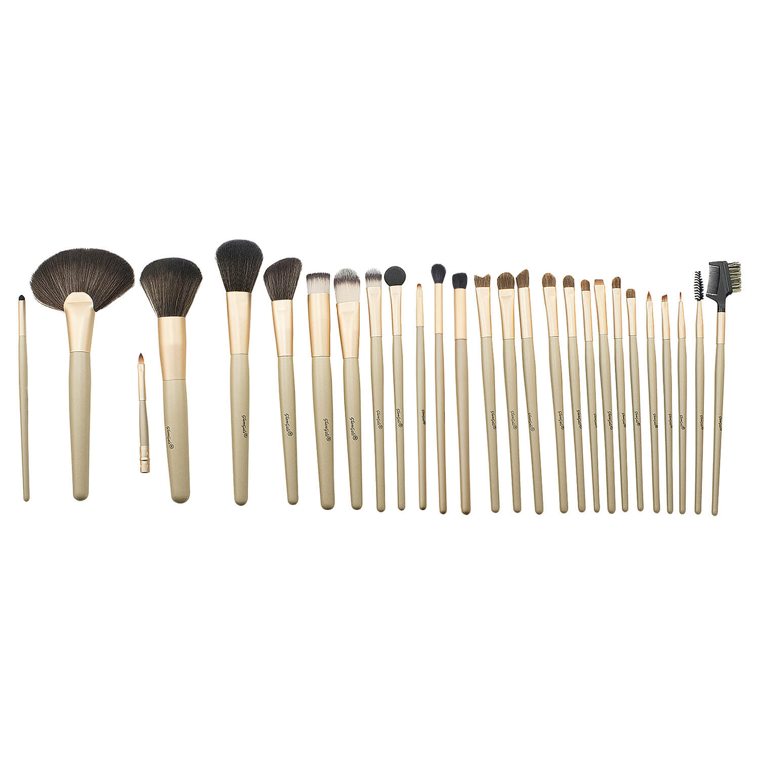 GlamGals 27 Pcs Brush Set - Black(550gm)