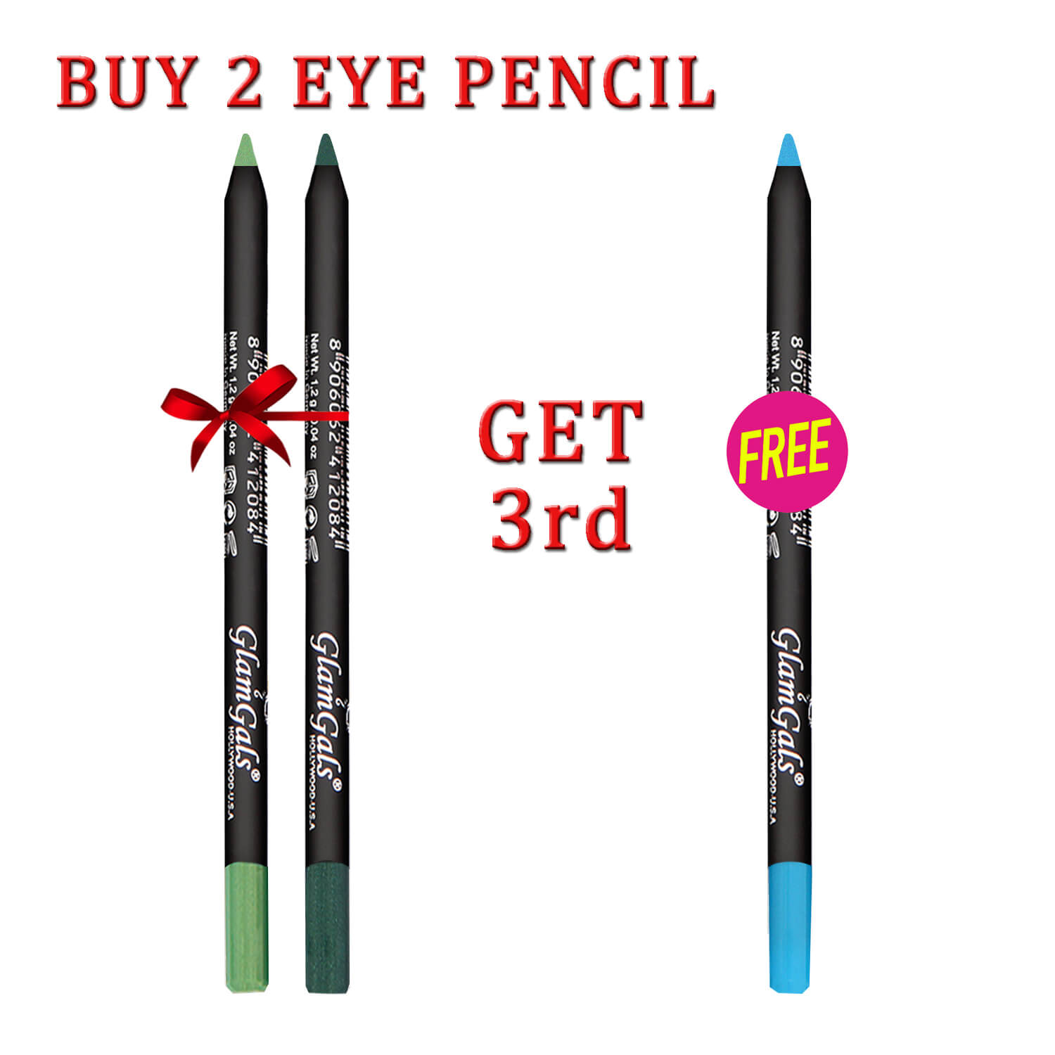 Buy 2 GlamGals Glide-on Eye pencil & Get 1 Free